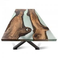 Come fare un tavolo in resina e legno